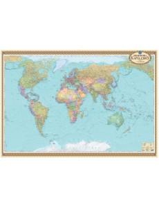 Політична карта світу офісна 1:22 000 000