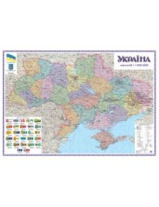 Україна. Політико-адміністративна картон 1:1 000 000