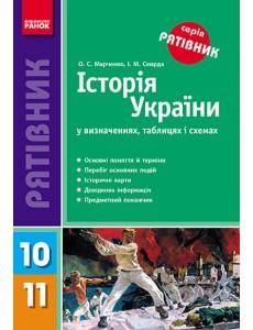 Історія України у визначеннях, таблицях і схемах  10-11 кл