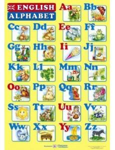 Плакат двосторонній Англійський алфавіт (для учня)