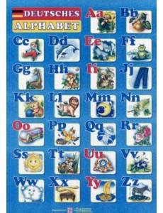 Плакат двосторонній Німецький алфавіт (для учня)