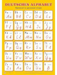 Плакат  Deutsches Alphabet. Прописні та друковані літери