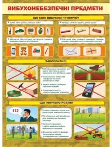 Плакат Вибухонебезпечні предмети