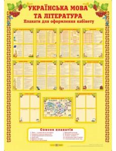Українська мова і література. Комплект плакатів для оформлення кабінету