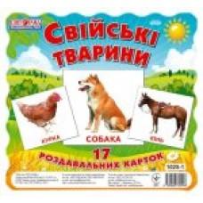 Картки міні. Свійські тварини