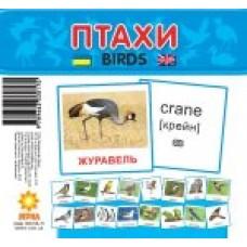 Картки міні Птахи (110х110 мм) (укр)
