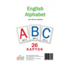 """Картки великі Букви Англійські """"Зірка"""""""