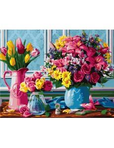 Картина за номерах VA-1364 Букети квітів, розміром 40х50 см