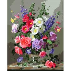 Картина з номерах VA-1400 Різнокольоровий букет, розміром 40х50 см