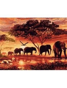 Картина з номерами VA-2104 Африка, розміром 40х50 см