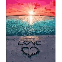 Картина по номерам VA-2152 Love на піску , розміром 40х50 см
