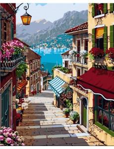Картина по номерам VA-2163 Гірське місто , розміром 40х50 см