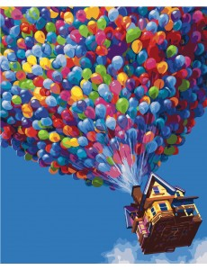 Картина по номерам VA-2184 Будинок з кульками , розміром 40х50 см