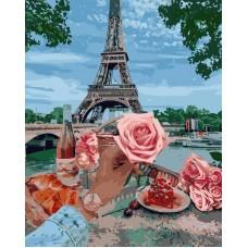 Картина по номерам VA-2263 Романтика у Парижі , розміром 40х50 см